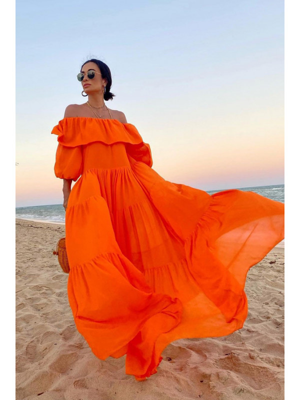 Vestido Louise Orange - M
